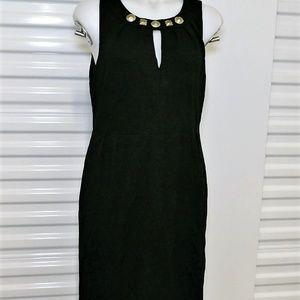 Kenneth Cole Reaction Black Sheath Dress sz M